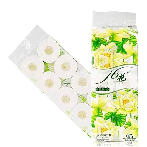 Toallas de papel de 10 rodillos, toallas de papel higiénico blando, toallas de papel higiénico, toallas de papel de tres capas, toallas de papel blandas, tejidos de papel de mesa, toallas de papel de