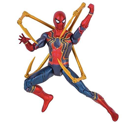 Lfy Marvel Avengers 3 Spider-Man Juguete Muñeca Modelo Cuerpo Completo Articulación Movible...