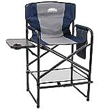 Coastrail Outdoor Tall Director Chair 400 lbs Padded Foldable Bar Height Makeup Artist Chair Heavy...