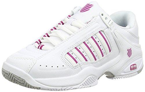 K-Swiss Performance Defier Rs, Damen Tennisschuhe, Weiß (White/Veryberry 39), 38 EU (5 UK)