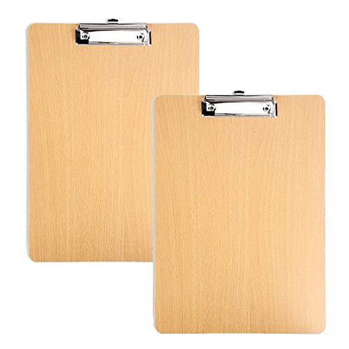 Klemmbretter aus Holz, A4, für Klassenzimmer und Bürobedarf