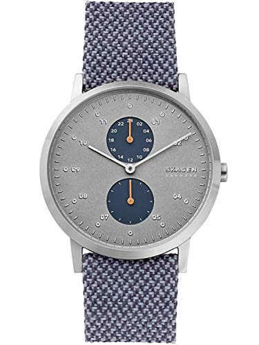 Skagen Herren Analog Quarz Uhr mit Leder Armband SKW6524
