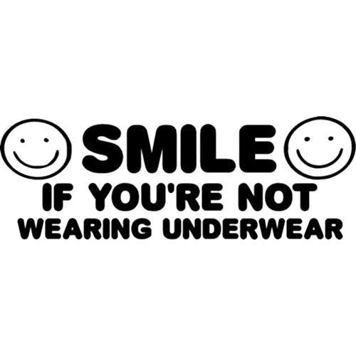 MCTYLI 15,9 x 5,5 cm smiley als je niet gebruikt, ondergoed, etiket met grappige sticker voor auto in de stijl van de auto