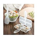 NOLOGO Js-MLX Transhome Rice Ball Mold Sushi Moulds 2Pcs / Set Shake The Rice Ball Mold Sushi Werkzeuge Onigiri Reis-Form-Küche Sushi-Tools Machen