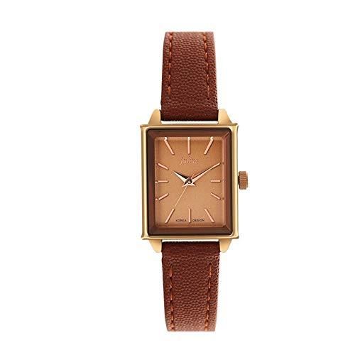 CHENDX Nuovo orologio al quarzo rettangolare minimalista retrò selvatico orologio al quarzo orologio impermeabile (Color : C)