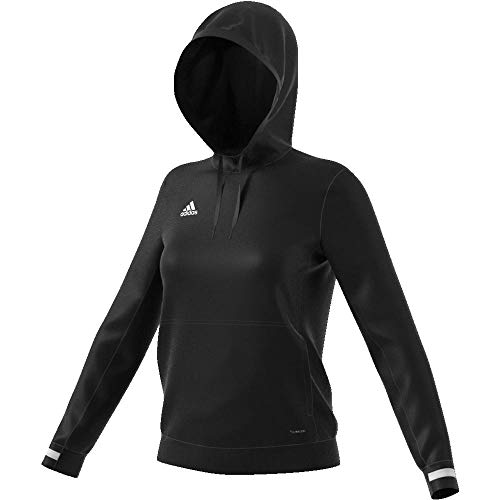 adidas Damen T19 Hoody W Sweatshirt, Black/White, L