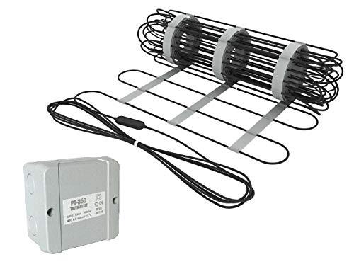 Elektrische Freiflächenheizung mit Thermostat | Frostschutz 300 W/m² | zum Schutz vor Schnee und Eis, Heizfläche:1.00m²