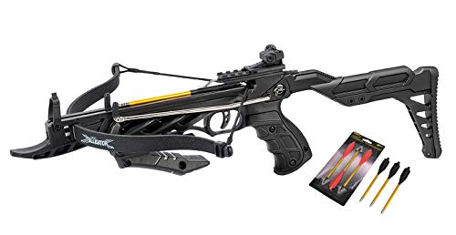 Isaazon 80lbs Self Cocking Hunting Crossbow Recurve Pistol Grip Cross Bow 225+ FPS