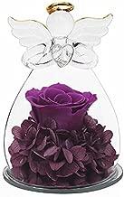 Sacredyna Grandma Birthday Gifts, Pretty Purple Rose Angel Gifts for Women