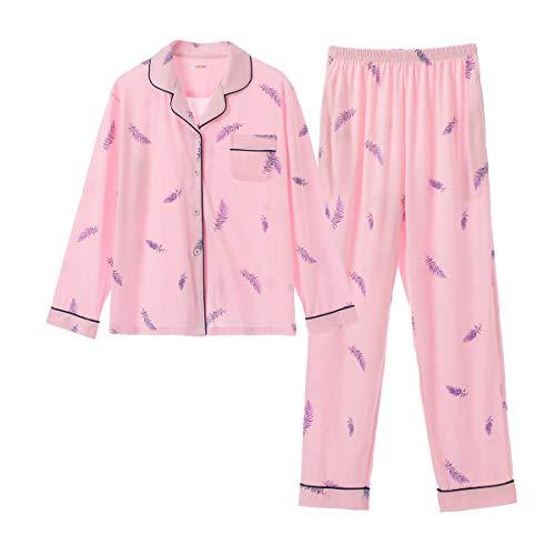 GOSO - Pigiama da bambina, a maniche lunghe, con bottoni, colore rosa, 12-13 anni
