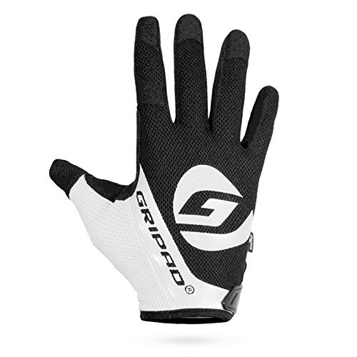Gripad Airflow Cross-Training Gloves | Vented Weightlifting Gloves | Full Hand Protection & Reduced Hot-Hands | Pull Ups, Cross-Training, Fitness, WODs, Weightlifting. Men & Women (White, Small)