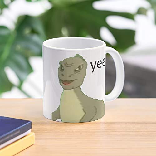 Meme 4Chan Dinosaur Yee Culture Tags Youtube Internet - Taza de café de regalo de moda superventas negra, blanca, cambia de color 11 onzas, 15 onzas para todos…