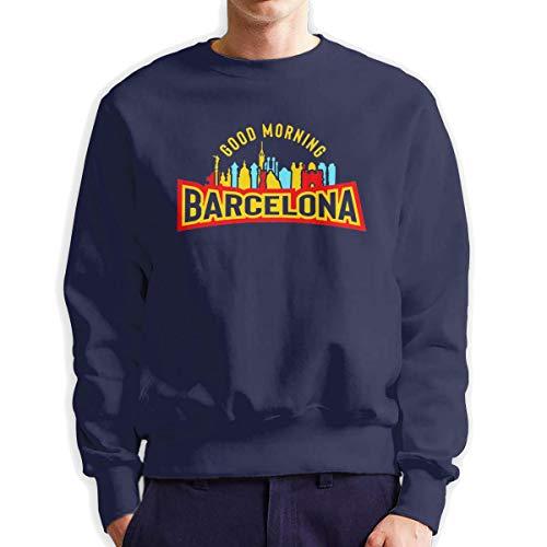 Top Groothandel Goede Morgen Barcelona Heren Crew Neck Sweatshirt Medium Dikte Trui voor Mannen