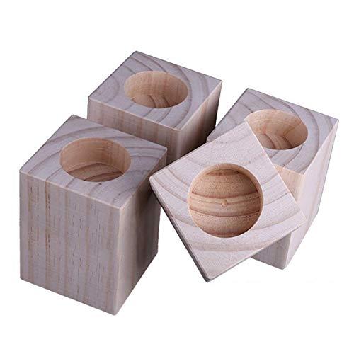 4 Packungen Betterhöhungen, Holzmöbelheber mit Innenrille zur Erhöhung von Betten – Sofa- oder Tischerhöhungen zum Anheben von Sofa-Beinen (Größe: A).