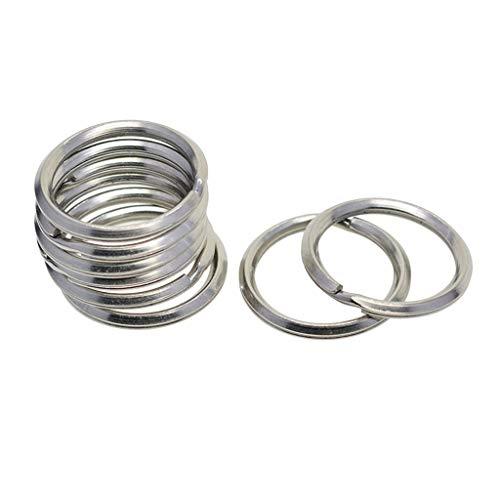 Fenteer 10 Pieces Heavy Duty Stainless Steel Keyring Split Key Rings 28mm Double Loop Hoop Ring Car Home Keys Organization, Arts Crafts, Lanyards, DIY