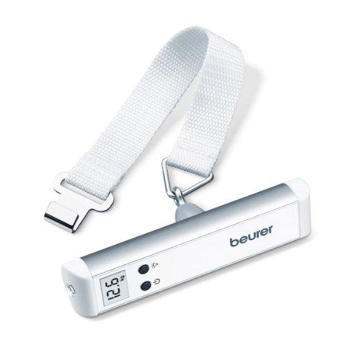 Beurer LS10 - Básculapara Maletas, Capacidad de 50 kg, con Linterna, Ideal para Viajes, Color Blanco