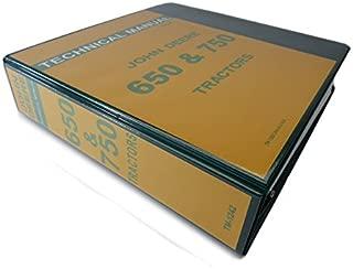 John Deere 650 & 750 Tractor Technical Service Repair Shop Manual Book