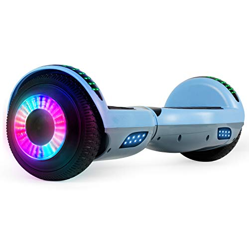 SISIGAD Hoverboard, 6.5' Two-Wheel Self Balancing Hoverboard, Smart Hover Board for Kids Gift (Grey+Blue)