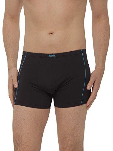 Herren Retro-Pants aus Microfaser, Pants für Männer, Shorts Herren, 4er Pack von Größe 5/M bis14/5XL - Frank Fields, Farbe:blau, Größe:9