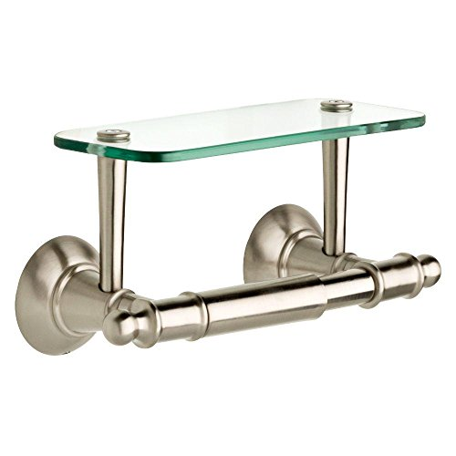 Top 10 best selling list for double toilet paper holder with glass shelf