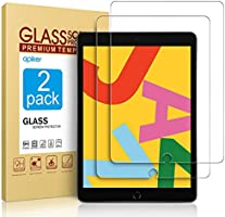 [2 Pack] Screen Protector Compatible with iPad 8th Generation 10.2 Inch (iPad 8), apiker Tempered Glass Screen Protector...