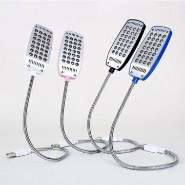 USB flexible 28 Lampe de table LED ordinateur portable des yeux Protection de la lumière - Blue