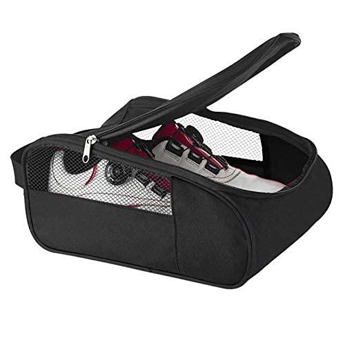 Bolsa de zapatos de golf portátil hombres mujeres malla transpirable plegable deportes al aire libre gimnasio zapatos portador caso con cremallera viaje
