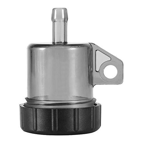 Akozon Moto Bomba de freno Tanque de aceite Copa Botella de líquido Lata de modificación Accesorios para la mayoría de las motos(Negro)