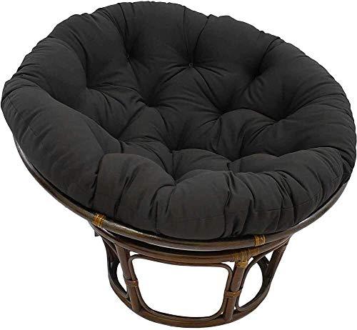 HEXEK Almohadillas sólidas para Asientos de Patio, Almohadillas Redondas para sillas Colgantes, colchoneta para Columpios para Cojines de Suelo con mechones para Interiores y Exteriores, Cojines a
