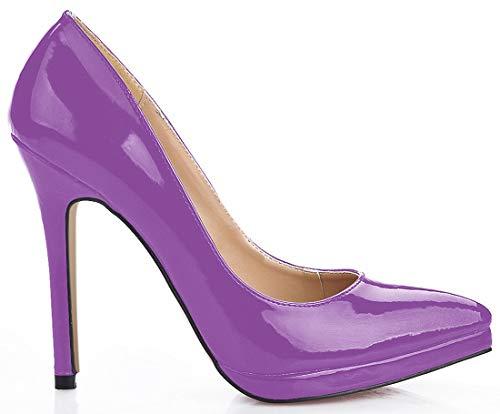 CHMILE CHAU-Zapatos para Mujer-Bombas de Tacon Alto de Aguja-Talón Delgado-Sexy-Moda-Novia o Dama-Boda-Nupcial-Zapatos...