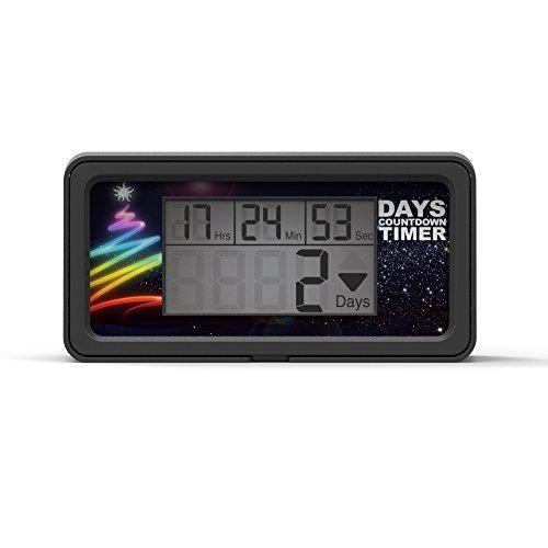 Runleader RL-HM200 LCD Tage Countdown Timer DIY Timer für Ruhestand Hochzeit Urlaub Geburtstag Weihnachten Ereignis Klassenzimmer Neues Jahr(Schwarz)