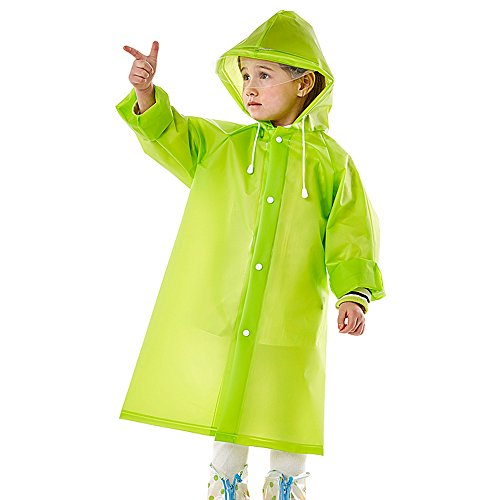 Kids Regen Poncho Waterdichte Jas Regenjas Licht Ademend Puur Groen Baby voor kinderen S