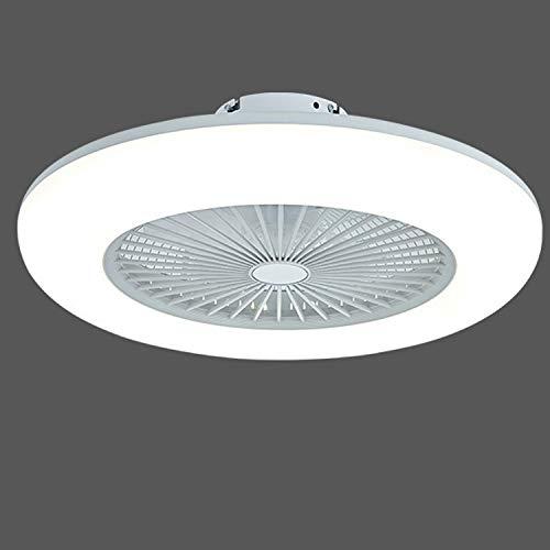 KWY Luz de Techo LED Moderna con fan-80W Luces de Ventilador de Techo Regulables con Control Remoto, iluminación de Ventiladores para Sala de Estar, Comedor, Dormitorio, Oficina de pasillos