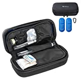 Essential Pal Insulin Cooler Travel Case – 12hr Cooling Insulin Pen Case – Waterproof Insulin Bag for Vial Supply, Medicine & Diabetic Supplies Pack - Cold Insulated Diabetic Case with 2 Gel Ice Packs