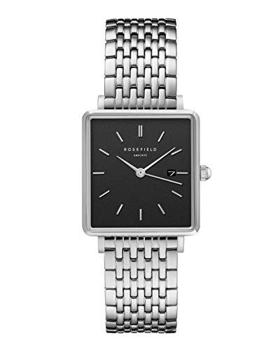 Rosefield Damen Analog Quarz Uhr mit Edelstahl Armband QBSS-Q07