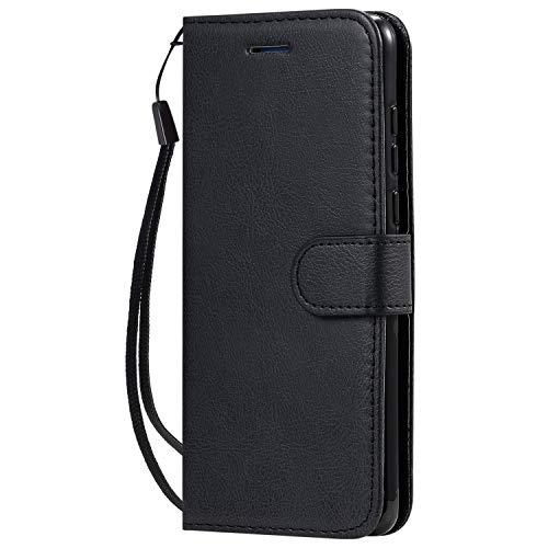 Hülle für Huawei P40 Handyhülle Schutzhülle Leder PU Wallet Bumper Lederhülle Ledertasche Klapphülle Klappbar Magnetisch für Huawei P40 - ZIKT050942 Schwarz