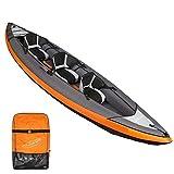 MUBAY 3-Persona Kayak Inflable fijado con el Aluminio y Paddle de Alto Rendimiento Bomba de Aire, del Barco de Pesca del Barco de Goma Espesada Espesado Canoa Rafting Barco