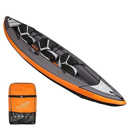 MUBAY 3-Personen-aufblasbares Kajak-Set mit Alu-Paddel-und High-Output-Luftpumpe, Fischerboot verdickte Gummiboot verdickte Kanu Rafting-Boots