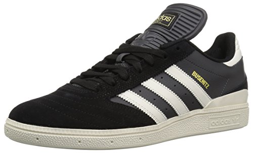 adidas Men's Busenitz Skate Shoe, core Black, Chalk White, DGH Solid Grey, 4 M US