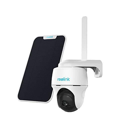 Reolink Go PT 3G/4G LTE Überwachungskamera Aussen + Solarpanel, Kabellose IP Kamera Outdoor mit Akku, 355°/140° Schwenkbar, 1080p FHD, Vodafone V-SIM Karte u. 16GB microSD Karte, 2-Wege-Audio