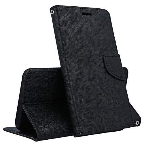 compatibile per LG K8 (2018)/ LG K9 schermo 5.0 Copertura CUSTODIA cover STAND flip LIBRO magnetica protezione guscio GEL SILICONE TPU MORBIDA portafoglio porta vano card eco pelle (NERO)