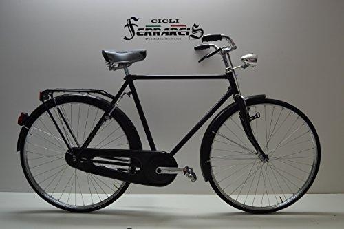 Cicli Ferrareis Bicicletta erre 28 Nera con Freni a Bacchetta