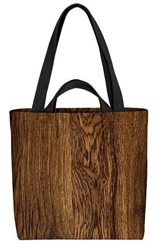 VOID Holz Oberfläche Tasche 33x33x14cm,15l Einkaufs-Beutel Shopper Einkaufs-Tasche Bag