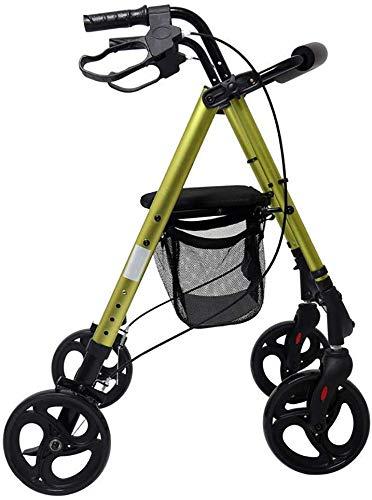 Dljyy Viejo Walker Shopping rolstoel, draagbaar, inklapbaar, van aluminium, geschikt voor zwangere vrouwen