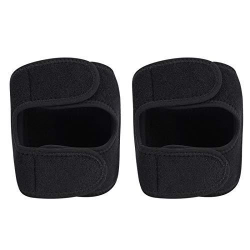 Rodillera deportiva de neopreno, diseño de gancho y bucle negro para ejercicio al aire libre