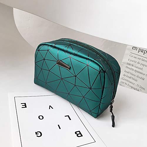 Sac cosmétique de voyage petit sac cosmétique féminin portable main grande capacité sac de rangement cosmétique portable simple vert