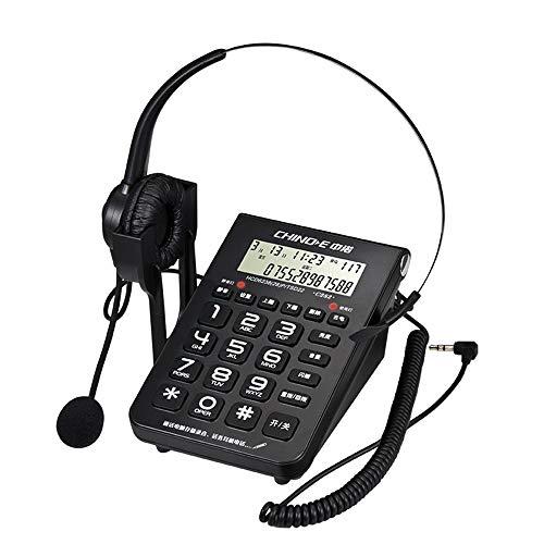HHXD Centro de Llamadas Agente de Oficina Asistente de atención al Cliente Auriculares Teléfono Fijo Teléfono de atención al Cliente Auriculares.