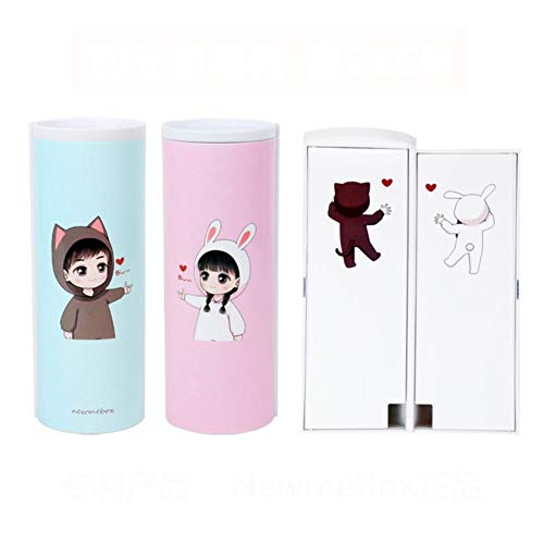 Creative Whiteboard Pencil Case With Solar Calculator Magnetic Switch Kawaii Cartoon Pen Box School Writing Case pen bag,Love emission
