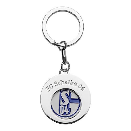 FC Schalke 04 Schlüsselanhänger Einkaufschip rund, Anhänger, Keychain S04 - Plus Lesezeichen I Love Gelsenkirchen