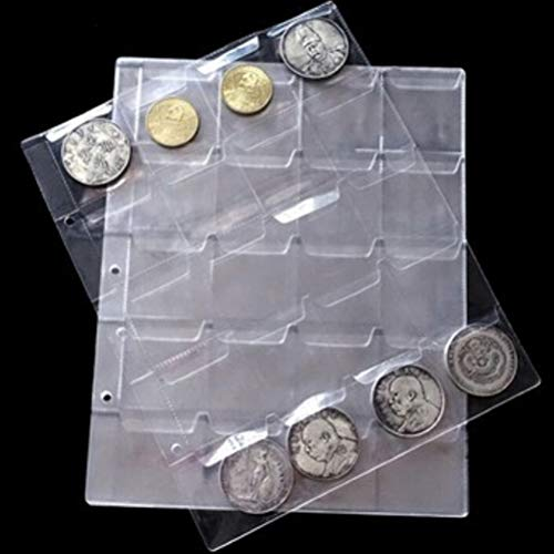 Po Albums - 1 Sheets 20 Pockets Transparent Money Coin Collection Page Albums Decor Coins Holders Album - Photo Album Photo Book Collector Album Paper Bavaria Fotoalbum Coin Collector Sk